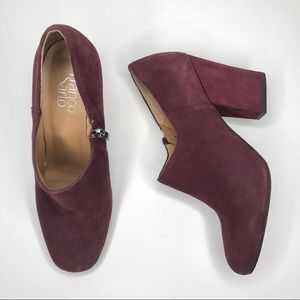 Franco Sarto BASSETT plum suede leather boot